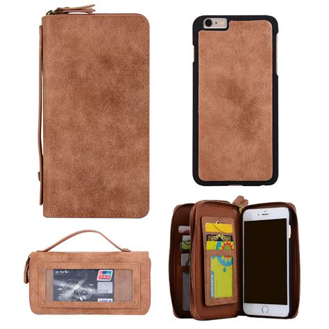for iphone 7 plus 6s genuine leather removable detachable wallet card cover ebay
