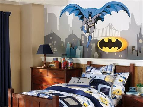 Cityscape Curtains Decorations Super Hero Theme For Boy Room Decorating