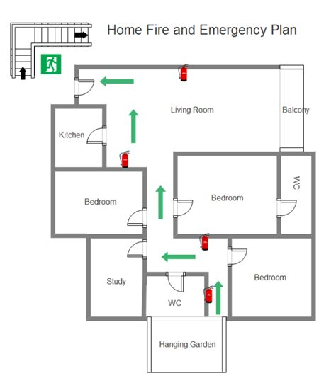 fire safety plan for home simple fire emergency chart maker make great looking