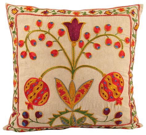 Handmade Pillow Covers - handmade suzani pillow cover modern decorative pillows