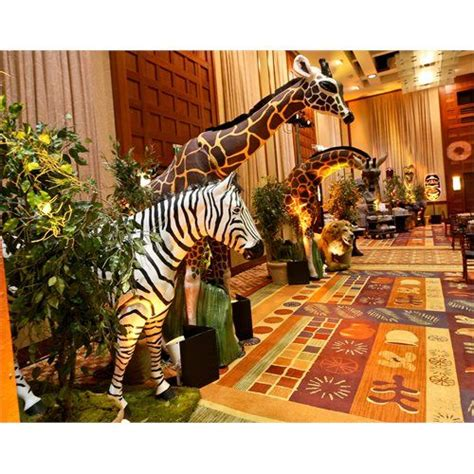 african themed events west african themed party life size animal props