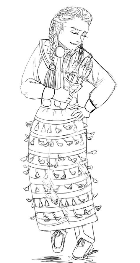 jingle dress coloring page jingle dress dancer by tetra freak on deviantart