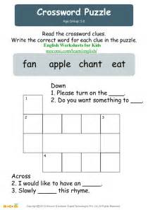 crossword puzzle english worksheets for kids mocomi com