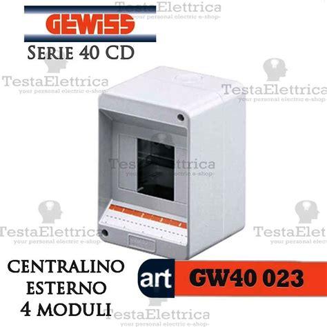cassette per quadri elettrici gewiss gw40023 centralino 4 moduli per quadro elettrico