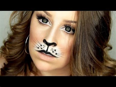 tutorial makeup halloween indonesia cat lion halloween makeup tutorial youtube