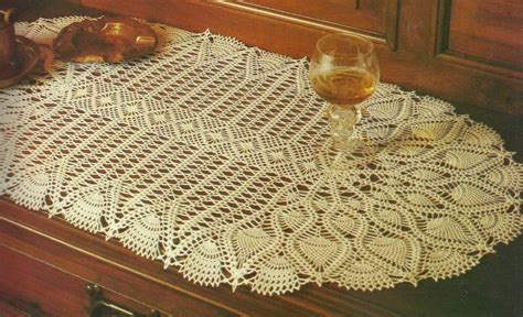 table runner for oval table oval pineapple table runner crochet