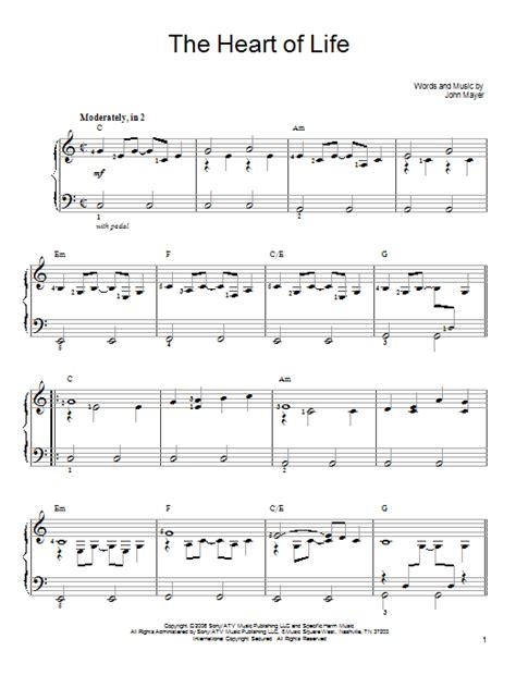 tattooed heart vocal sheet music the heart of life sheet music direct