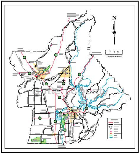 map of butte county california butte county economic development corporation maps