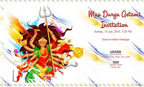 Invitation Letter Format For Kali Puja Free Durga Puja Invitation Card Invitations