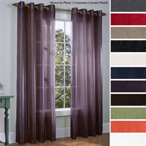 Grommet Curtains With Sheers Martel Semi Sheer Grommet Curtain Panels