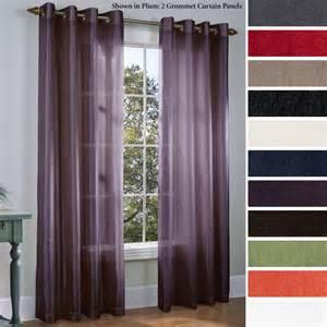Grommet Sheer Curtains Martel Semi Sheer Grommet Curtain Panels