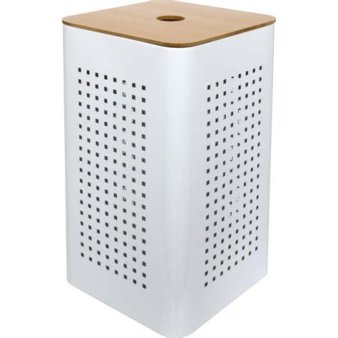 panier à linge design 3461 panier 224 linge m 233 tal white blanc l 30 x h 50 x p 30 cm