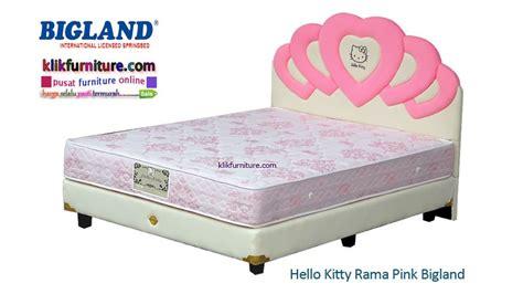 Bed Bigland Kecil hello rama pink bigland springbed pasti termurah