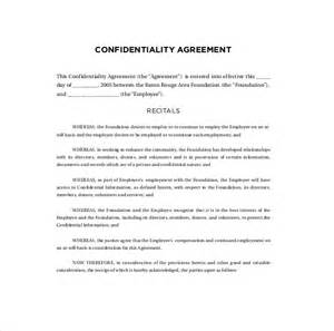 Employee Confidentiality Agreement Template Free 10 confidentiality agreement templates free sample