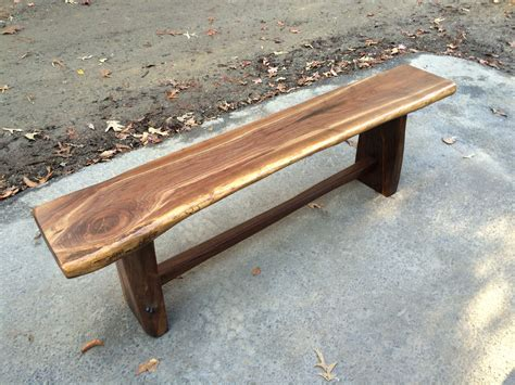 live edge bench custom live edge walnut bench by genuinetimbercraft