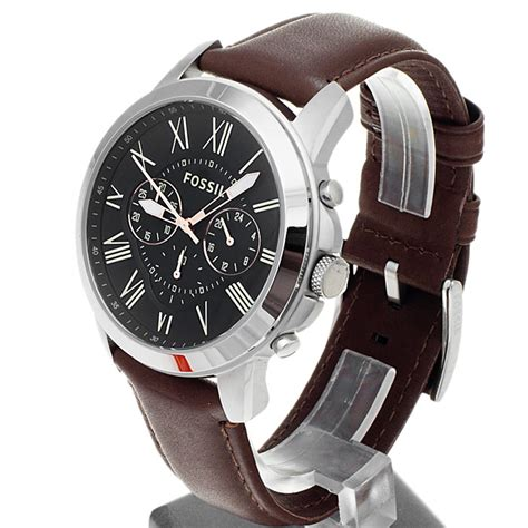 Fossil Fs4813 Leather Brown Silver Black Incld Box D 45 Mm fossil fs4813 s grant chronogra end 10 22 2019 3 35 am