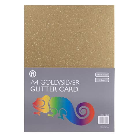 glitter for card a4 metallic glitter card