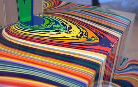 layers of acrylic paint on canvas holton rower pour