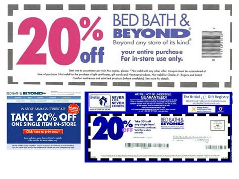 printable coupons for bed bath and beyond bed bath and beyond coupons