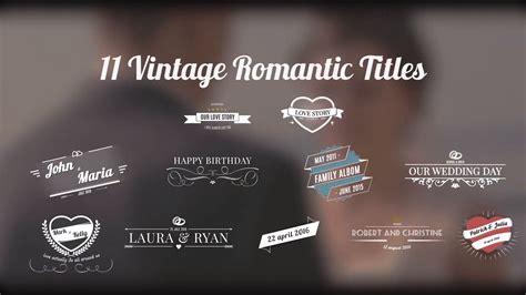 11 Vintage Romantic Titles Videoblocks Premiere Pro Wedding Title Templates