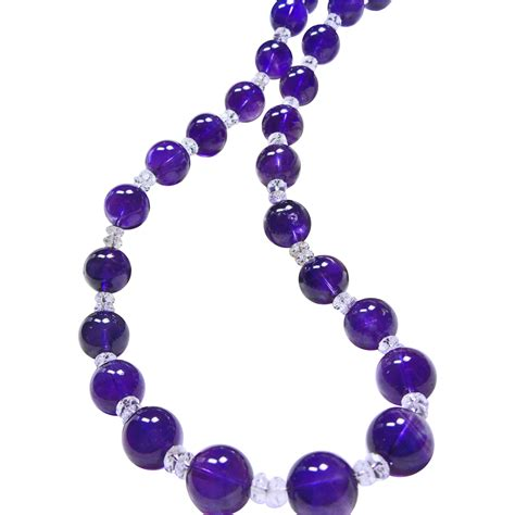 amethyst bead necklace 14mm amethyst bead necklace with aaa quartz