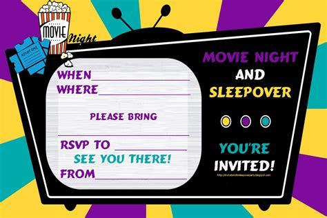 sleepover invitations templates free sleepover birthday invitations gangcraft net