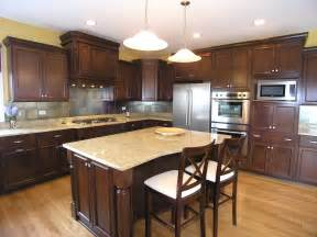Kitchen Colors Dark Cabinets by Kitchen Personalised Furniture Interesting Restaining