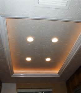 Tray Ceiling Lighting Another Tray Ceiling Recessed Lighting Idea To Replace The Fluorescent Kitchen Lights Remodel