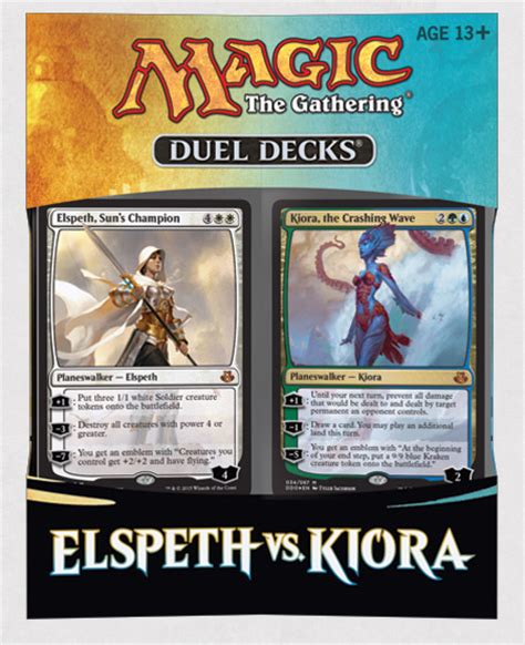 duel deck elspeth kiora meet in the new duel deck release for magic