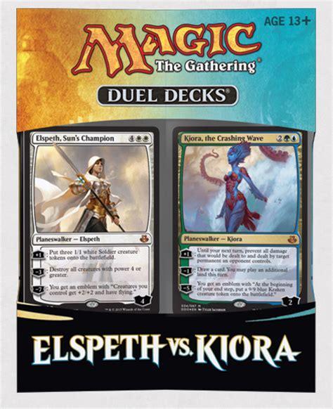 mtg duel decks duel decks elspeth vs kiora decklist speculation
