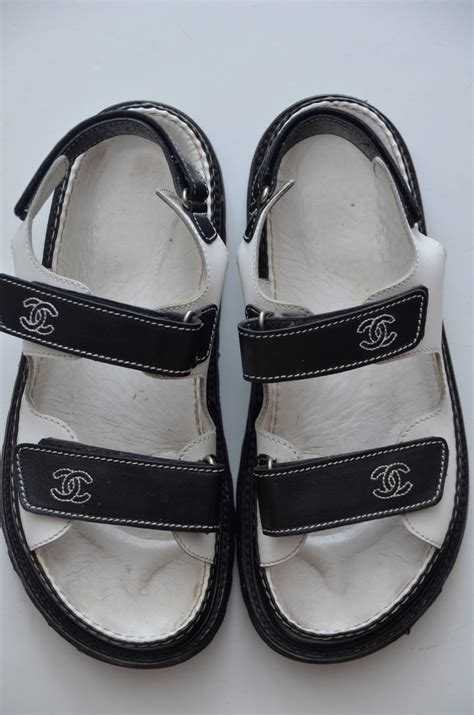 Channel Wedges Shoes 1 chanel quot birkenstock quot sandals shoes 38 at 1stdibs
