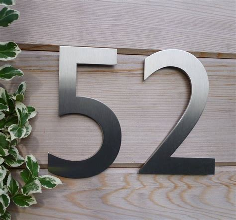metal house numbers designer gill sans stainless steel house number by housebling notonthehighstreet com