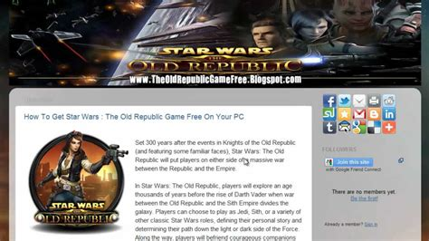 tutorial old republic crack for star wars the old republic pc tutorial youtube
