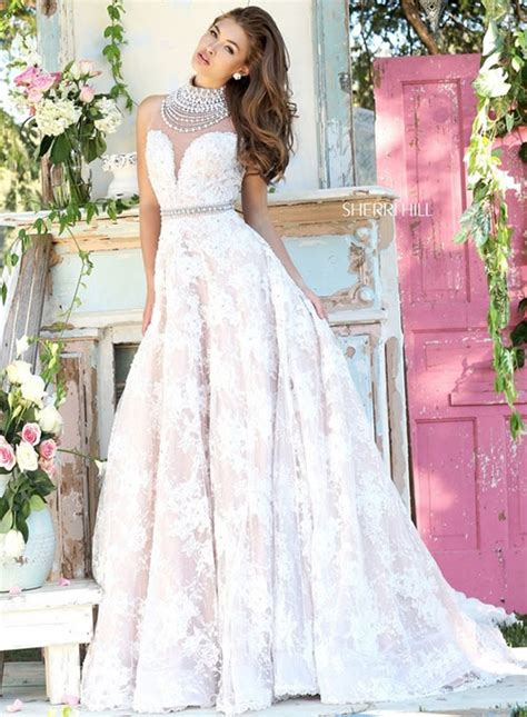 Sherri Hill Wedding Dress – Pearled Strapless Mermaid Style Evening Gown by Sherri Hill