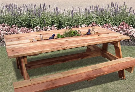 do it yourself picnic table team work projects how to build a quot cooler quot picnic table