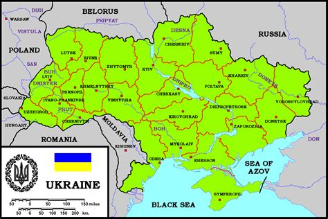ua map ukraine physik karte