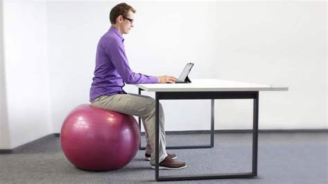 what size exercise ball for sitting at desk exercise ball desk chair chairs model