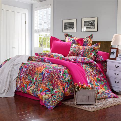 Light Pink King Size Bed For Girl With Brandream Bohemian