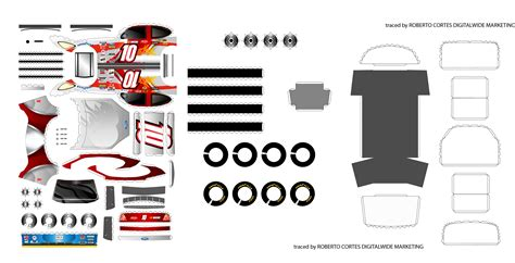 Paper Crafts Pdf - nascar papercraft vector by digitalwideresource on deviantart
