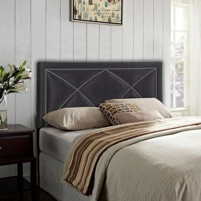 black upholstered headboard king pri nailhead velvet upholstered king headboard in black ds