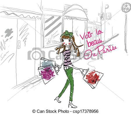 In paris shop. Girl, fashion, cartoon, cute, face, sketch,  stock illustrations   Search