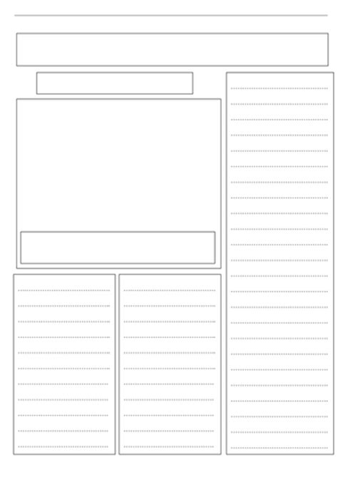 doc newspaper template a blank newspaper template by ljj290488 teaching