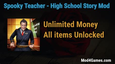 mod game unlimited money spooky teacher high school story archives mod4games com
