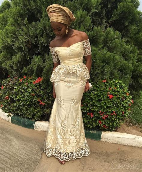 ankara african dress with lace top ten breathtaking cord lace aso ebi styles dabonke