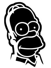 homer stencil pinterest long hairstyles