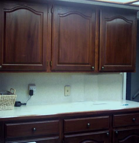Oak Kitchen Cabinets Refinishing refinishing oak cabinets before and after the way to