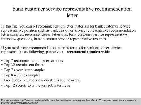 Complaint Letter About Bank Customer Service Bank Customer Service Representative Recommendation Letter