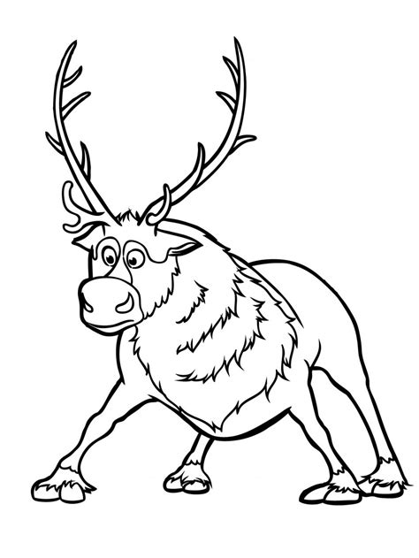 frozen reindeer coloring pages pin by radka hagarov 225 on ľadov 233 kr 225 ľovstvo craft