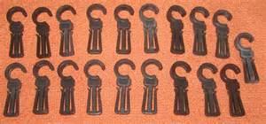 crochets marron pour anneau rideau accessoires