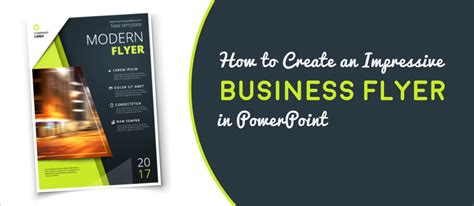 design flyer powerpoint how to create an impressive business flyer in powerpoint